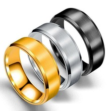 Blank design <strong>rings</strong> black and gold plating stainless steel <strong>ring</strong> women men stainless steel <strong>rings</strong> jewelry for gift