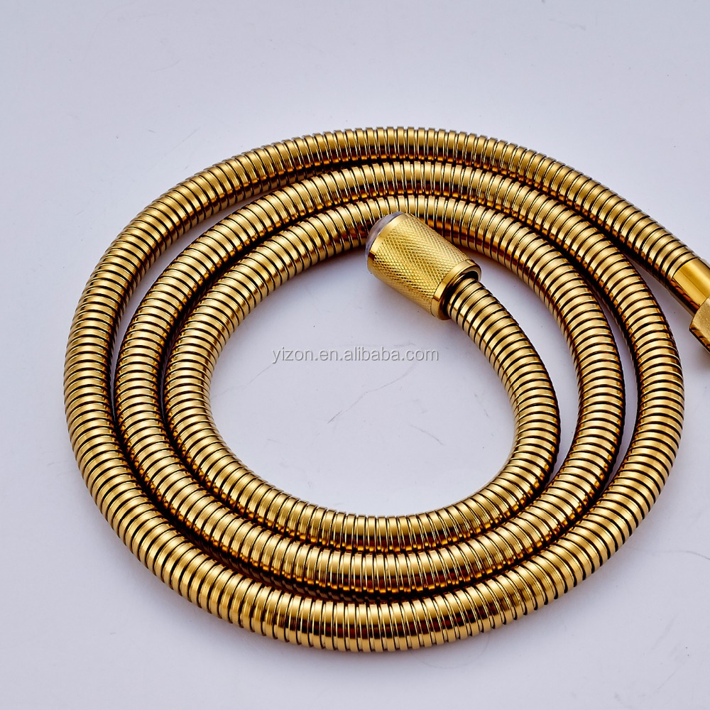 "Golden Stainless Steel 1500mm Shower Hand Shower Hose <strong>G1</strong>/2"" Shower Hose Pipe"