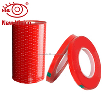 Free sample high quality pressure adhesive double side glue tape logo print double sided tape silicone adhesive