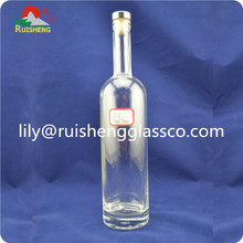 High quality hot new luxury private label vodka tequila glass bottle 750 ml