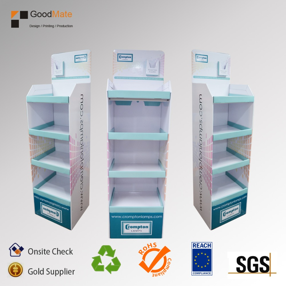 China LED bulb light cardboard display stand factory