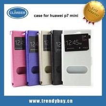 cell phone case for huawei ascend p7 mini with mix color and double window