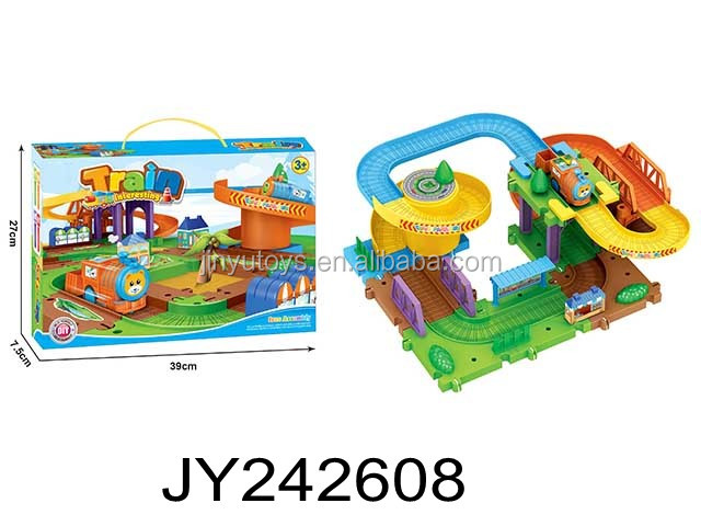 funny education magic assemble track toys B/O rail train intelligence Block