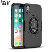 Wholesale Original Ipaky Brand Ring Holder TPU PC Back Phone Cover Case for Iphone 7 8 X 6s 6 5 SE plus