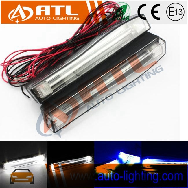 Auto car white blue 12v 10w special design 20w daytime running lights