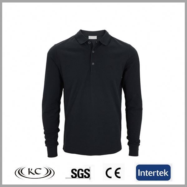 high quality 100%cotton fashion black long shirts with jeans
