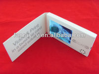 "Portable small 2.4"" video business card, video greeting cards"