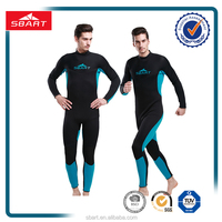 well fitting waterproof zipper black and blue jumpsuits neoprene wetsuit