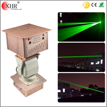 Two Green blue white red color fat beam waterproof laser landmark light for outside