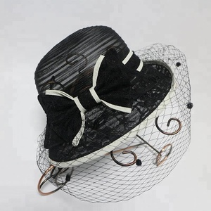 New arrival transparent church wedding hat,foldable fisherman black bucket hat