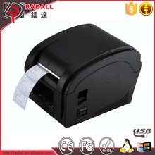 360B Factory bar code thermal label printer machine, portable mini waterproof barcode label printer for supermarket