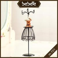 Cheap Iron Wire Jewelry Display Mannequin Stand Metal Necklace Earring Holder