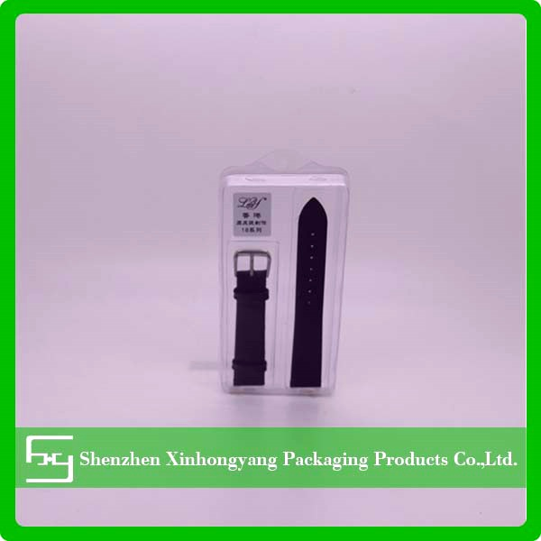 Transparent plastic packaging blister,cheap PVC blister for watchband