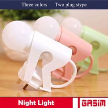 High quality ABS base and Glass Cover OEM wall plug baby night light