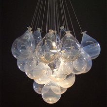 Modern Hand blown art clear murano glass art ball balloon hanging lights & lighting