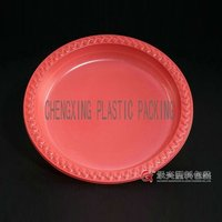 2016 hot sale ChengXing brand red round plastic pp tray
