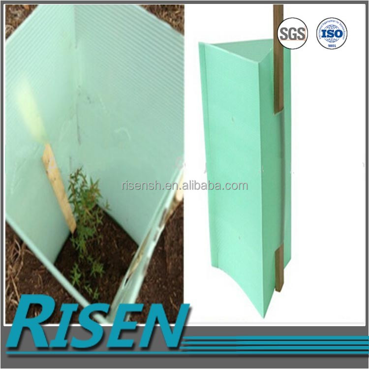 Factory made corrugated plastic pp plastic tree guard