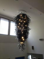 Black and White Glass Led Lighting Lamps Chandeliers