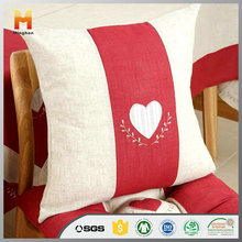 wholesale decorative custom latest design digital printed machine embroidery Natural Linen Cushion Cover for sofa and bed