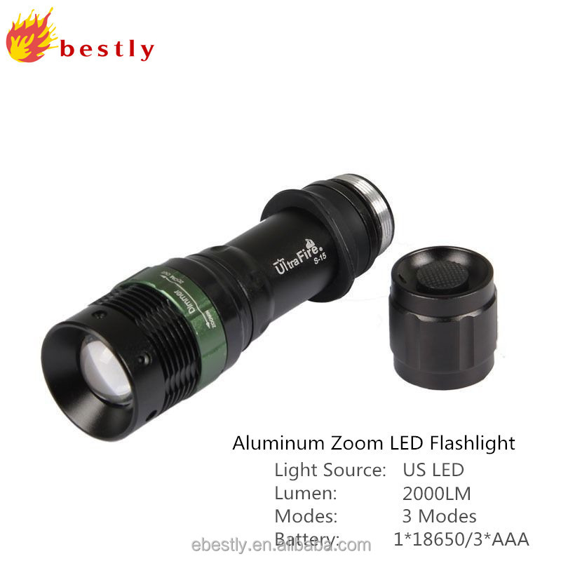 Original Bestly factory 2000LM with 3 mode XML T6 rechargeable police flashlight/hunting flashlights