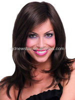 nature black long virgin remy hair monofilament wig