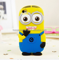 Silicon Rubber Case Despicable Me Minions Case Cover For iphone 5C