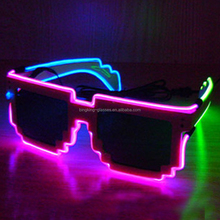 Colorful EL wire led flashing glowing sunglasses BKF1502057