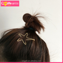 New designed Golden Silver Circular Metal Hair Clips Barrettes Hair Jewelry Hairpin for Women