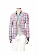 Men's suit wool/polyester jacket trouser waistcoat 3 piece suit
