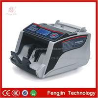 Multi currency bill counter with UV MG IR fake note detection cash money counting machine-Fengjin
