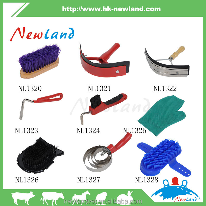 NL1328 adjustable plastic horse massage curry comb cleaning animal brush