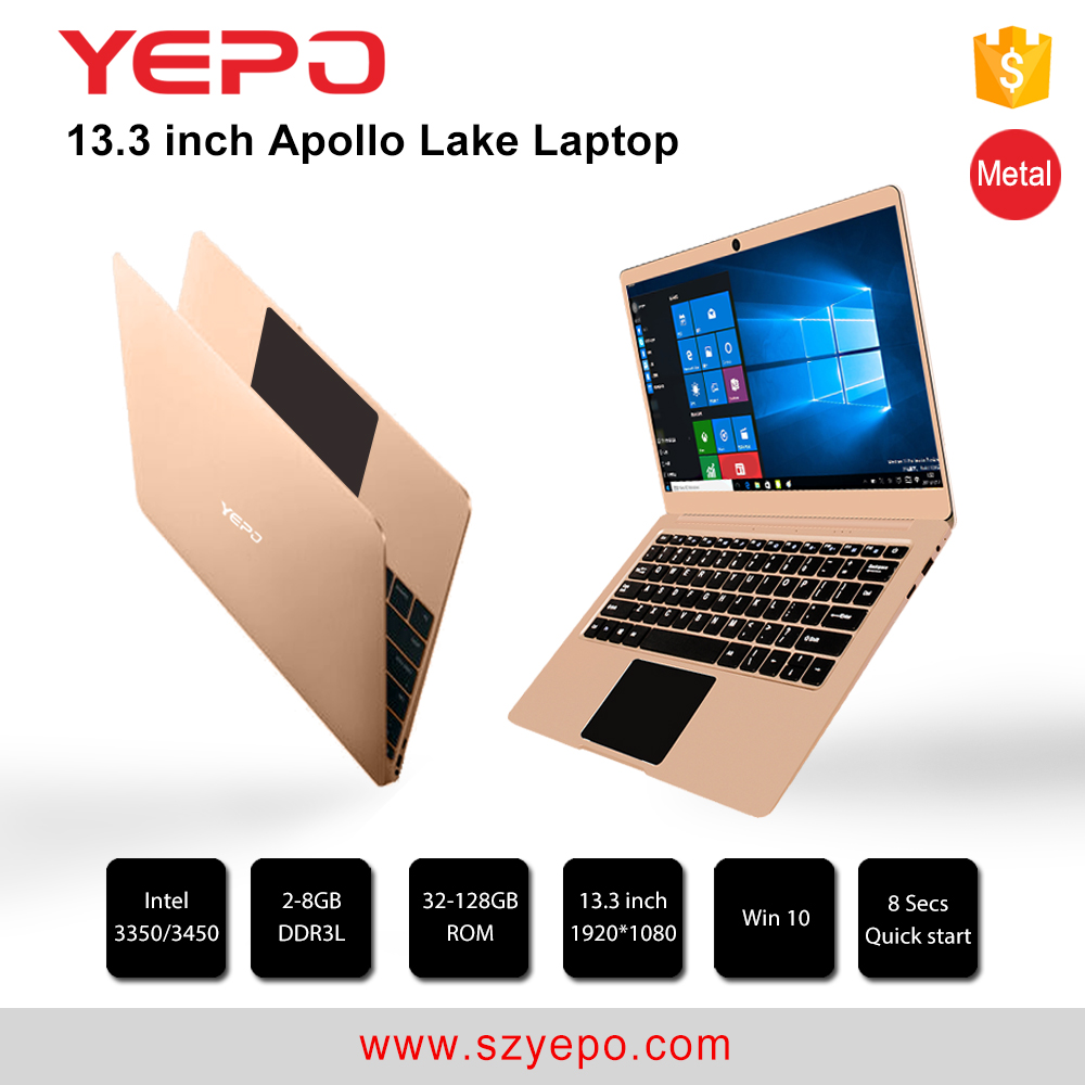 Brand new yepo <strong>13</strong>.3'' laptop computer intel quad core with Win 10 OS pre-installed laptop pc
