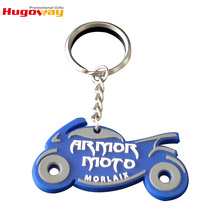 Environmental Custom Promotional gift Motorcycle Shape soft pvc keychain