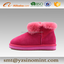 Winter warm beautiful Sakura Women Snow Boots with EVA sole by handmade