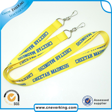 High Quality Cheap Custom Printed Polyester single customer lanyard