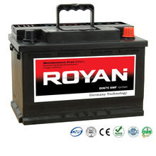 ROYAN 100% Tested DIN JIS 36Ah-220Ah Sealed Maintenance Free SMF MF Car Battery Automotive Truck Batteries