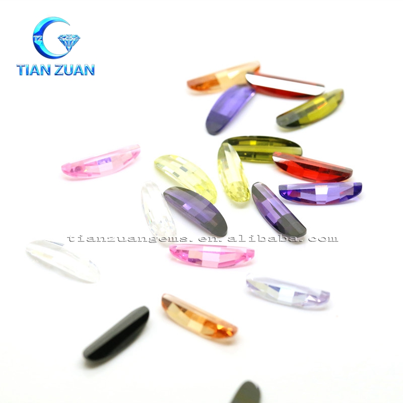 fashion charming longue gold ingot shaped multicolour cz for decoration