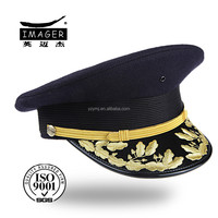 winter military major general hat with back flap