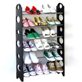Easy install outdoor shoe storage cabinets plastic shoe rack with 6 tiers