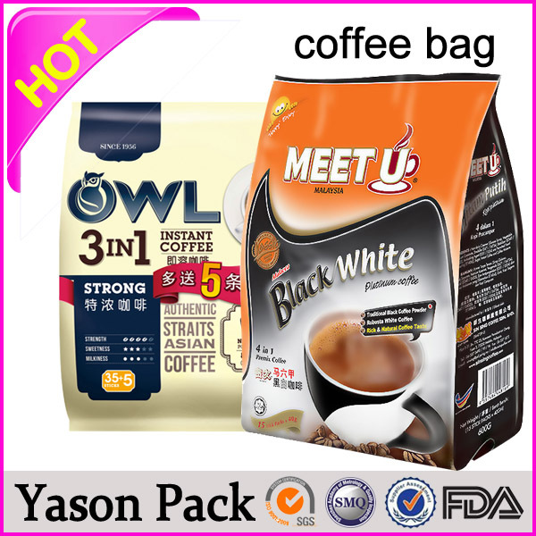Yason 12oz burlap coffee bag 12oz coffee bag with gusset vented coffee bags