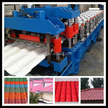 China factory sales glazed metal roof tile roll forming machine for structure