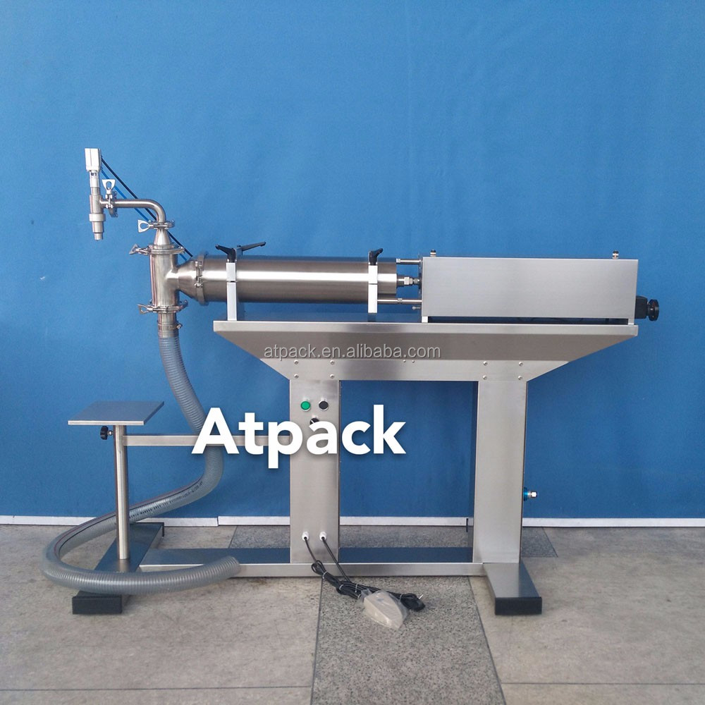 Atpack high-accuracy semi-automatic bath oil filling machine with CE GMP