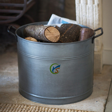 Fireplace Metal ash bucket for storage wood