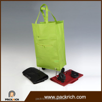 Alibaba china eco-friendly non woven fabric foldable shopping bag detachable brand trolley bags