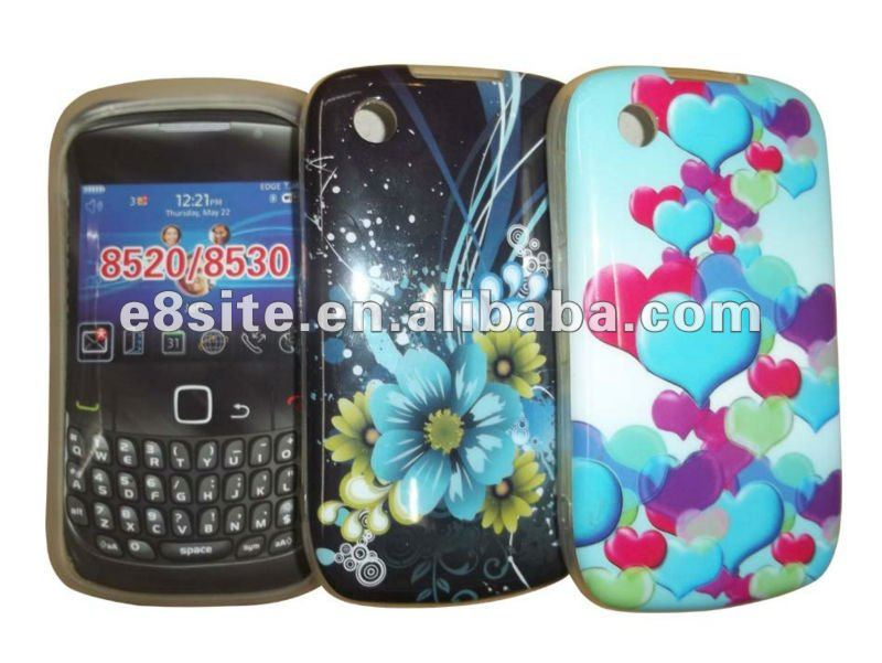 Fashionable Design IMD Cell Phone TPU Gel Case For BlackBerry 8520 Curve