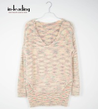 Ladies Jumper knitwear women sweater V-neck Winter new style multi colors