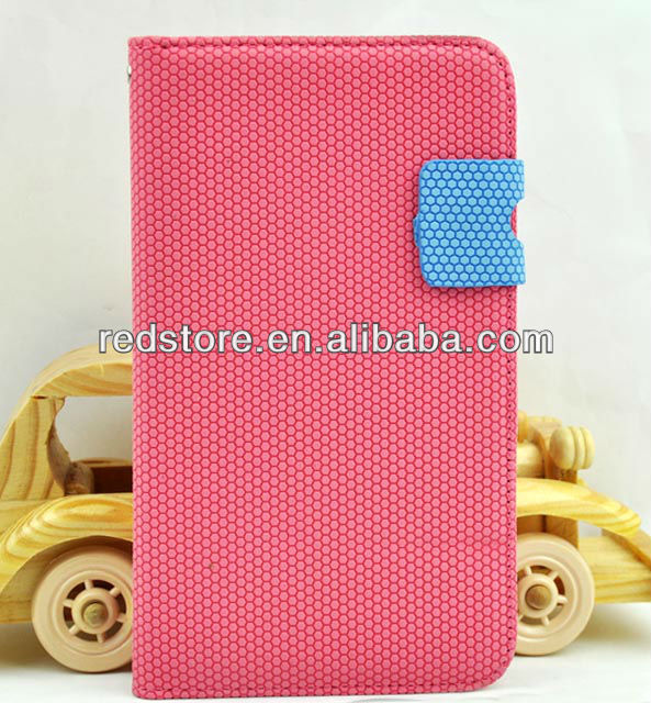 Hexagon basketball Surface Credit Card Wallet PU Leather Case For Samsung Galaxy Note 2 N7100