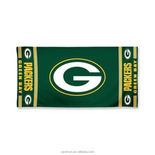 "100% organic cotton ""G"" Green Bay beach towels"