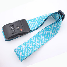 180 cm length adjustable travel polyester luggage strap/luggage scale belt with TSA lock