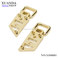 Manufacture fashion handbag accessories zinc alloy custom metal bag parts